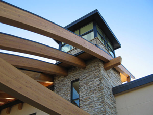 Anthology Community Center, Parker, Colorado. Structural Steel and Timber Clubhouse and Pool Support Building.