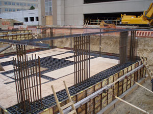 Stair and Elevator core foundation, Palazzo Verdi Office Building, Greenwood Village, Colorado.