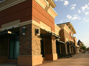 Barnes & Noble, Crossroad Commons, Boulder, Colorado. Project required the relocation of the Historic Jaycees Train Depot.