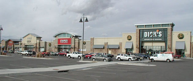 Harvest Junction North, Longmont, Colorado, Anchor and Jr. Anchor Tenant Buildings.