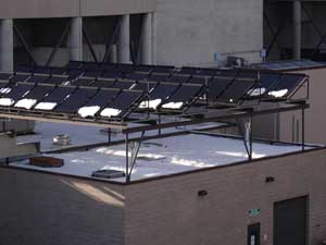 Rooftop installation at the Jefferson County Detention Center