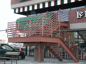 Exterior Stair at Retail Center, Denver, Colorado Turnkey Design Services to suit Project Needs