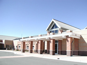 Louisville Police Station, Louisville, Colorado Masonry and Steel Structure, Exposed Steel Framing Structural Slabs on Void for expansive soils Holding cells, Courtroom, Covered Parking.