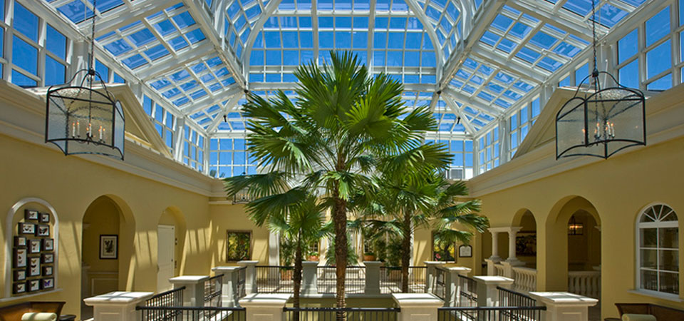 The Conservatory Clubhouse, Hammock Beach Resort, Florida Masonry, Structural Steel and Concrete structure True Conservatories Supported by Structure.